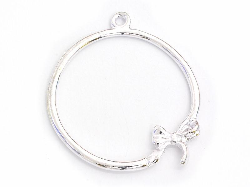 Acheter 1 breloque rond orné d'un noeud - 0,29€ en ligne sur La Petite Epicerie - Loisirs créatifs