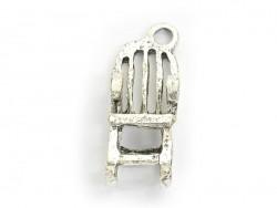 1 Breloque chaise à bascule - argenté foncé