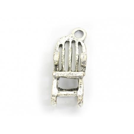 1 rocking chair charm - dark silver