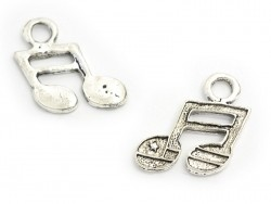 1 musical note charm - dark silver-coloured