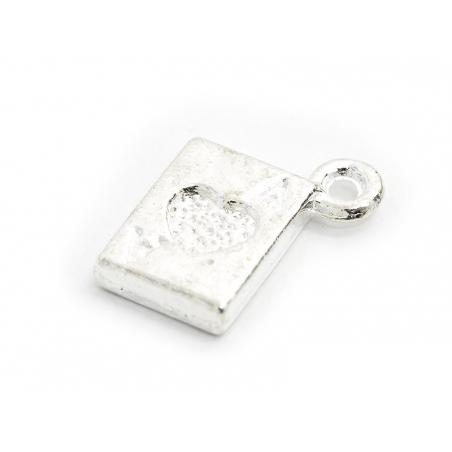 Acheter 1 Breloque carte à jouer As - argenté clair - 0,19€ en ligne sur La Petite Epicerie - Loisirs créatifs