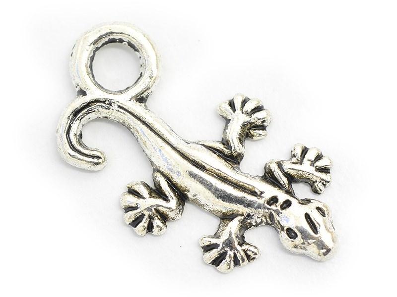 1 salamander charm - dark silver