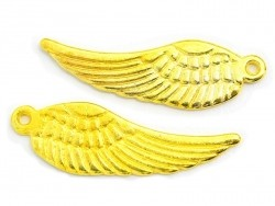 1 wing charm - gold-coloured