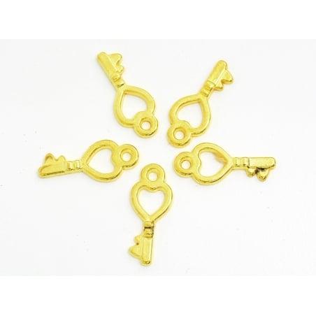 Acheter 1 Breloque petite clé d'amour - doré - 0,19€ en ligne sur La Petite Epicerie - Loisirs créatifs
