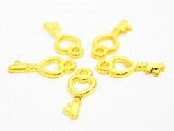 1 Breloque petite clé d'amour - doré  - 1