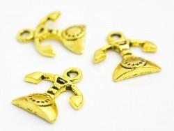 1 telephone charm - gold-coloured