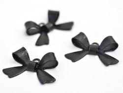 1 bow charm - black