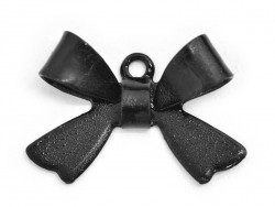 1 Breloque noeud - noir  - 1