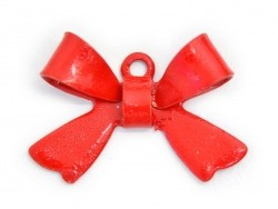 1 Breloque noeud - rouge   - 1
