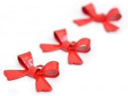 Acheter 1 Breloque noeud - rouge  - 1,09€ en ligne sur La Petite Epicerie - Loisirs créatifs