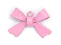 1 bow charm - pink