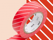 Masking tape motif - Rayé rouge