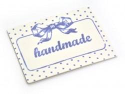 """Bügelbild / Aufkleber - mit einer Schleife und der Aufschrift """"Handmade"""""""