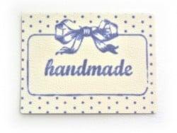 Iron-on patch / sticker - Bow / handmade
