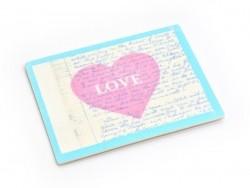 """Bügelbild / Aufkleber - mit einem Herz und der Aufschrift """"Love"""""""
