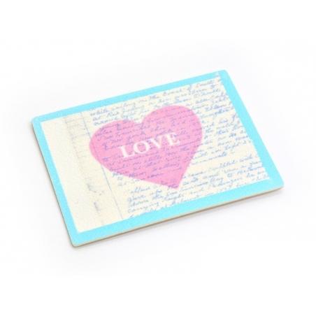 Etiquette thermocollante / adhésive - Love coeur