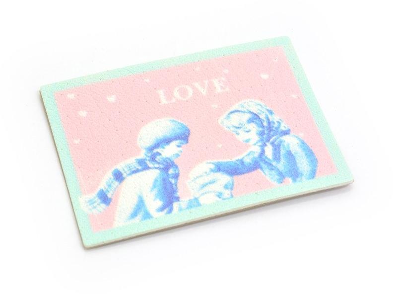 Etiquette thermocollante / adhésive - Love