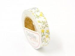 Fabric tape  - Fleurs jaune et vert