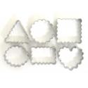 6 emporte-pièces - géométriques ondulés