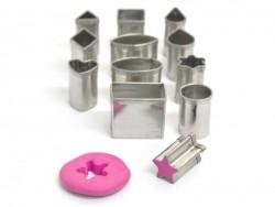 12 mini biscuit cutters - Geometric Forms