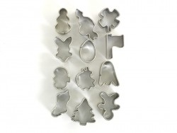 12 mini biscuit cutters - Holidays