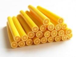 Cane citron - en pâte polymère  - 5