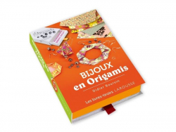 """Set in Buchform, mit herausziehbarem Fach - """"Bijoux en Origami"""" (in Französisch)"""