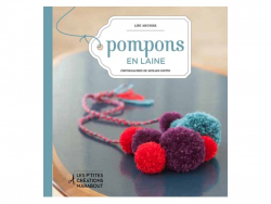 """French book """" Pompons en laine"""""""