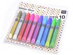 Acheter Lot de 10 stylos colle paillettes - glitter glue - couleurs métalliques - 7,30€ en ligne sur La Petite Epicerie - 10...