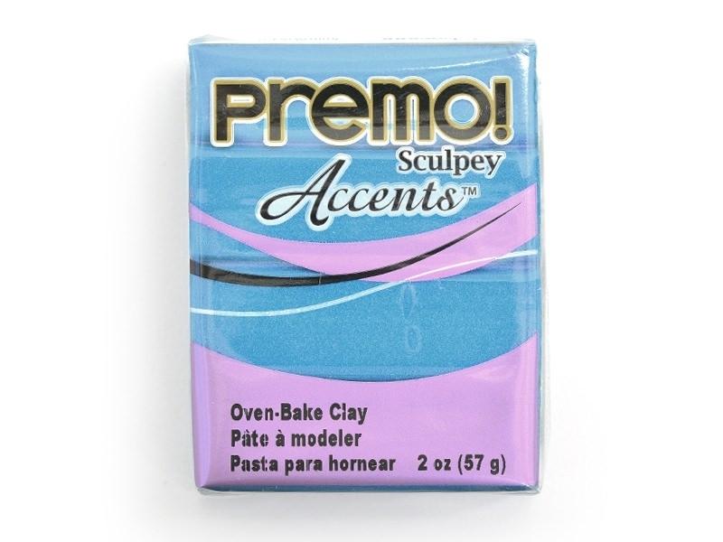Pâte PREMO! Accents - Perle bleu paon
