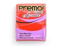 PREMO!-Modelliermasse Accents - Rot mit Glitzer