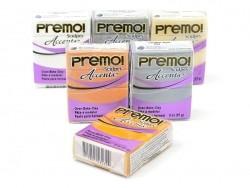 PREMO!-Modelliermasse Accents - Frostweiß mit Glitzer