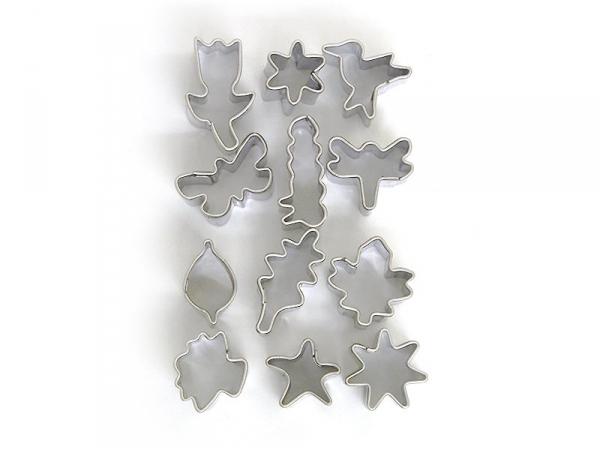 12 mini biscuit cutters - Nature