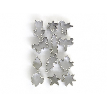 12 mini emporte-pièces - Nature