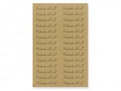 """112 Aufkleber aus Kraftpapier mit der Aufschrift """"Handmade with Love"""""""