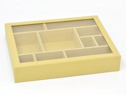 Boîte cartonnée à 10 casiers amovibles - 288x230x50mm
