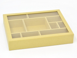 Cardboard box with 10 removable compartments - 288 mm x 230 mm x 50 mm
