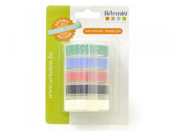Tape for the Click-Click label maker, 9 mm x 2 m - pastel
