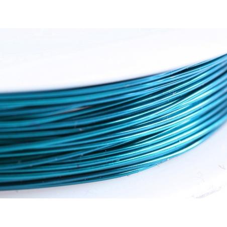 9 m de fil de cuivre 0,5 mm - bleu canard