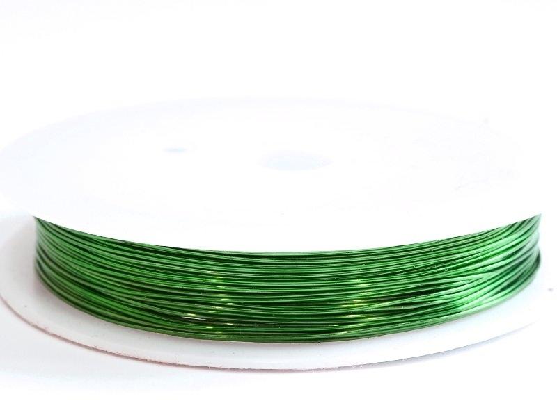Acheter 9 m de fil de cuivre 0,5 mm - vert pelouse - 3,50€ en ligne sur La Petite Epicerie - Loisirs créatifs