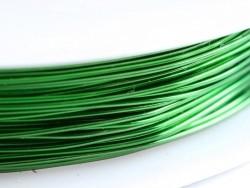 9 m de fil de cuivre 0,5 mm - vert pelouse