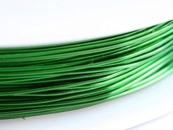 9 m of copper wire, 0.5 mm - grass-green