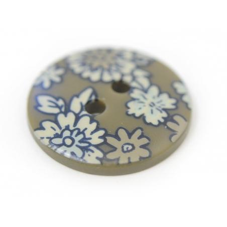 Bouton fleuri rond 18mm - Arthur - plastique