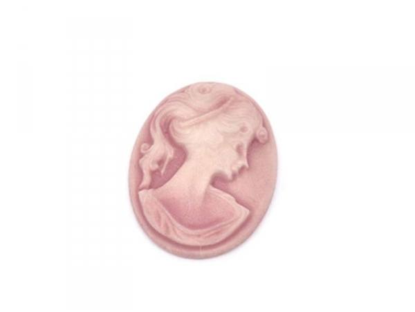Camé cabochon Vieux rose  - 3