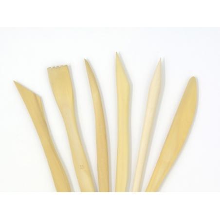 Acheter 6 outils de modelage en bois - 9,99€ en ligne sur La Petite Epicerie - Loisirs créatifs
