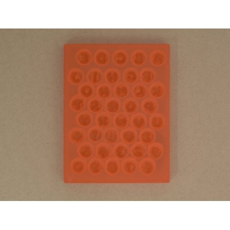 Very flexible mould - Alphabet and numbers