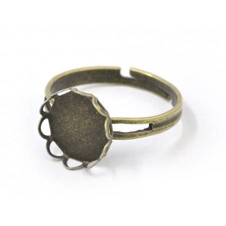 Acheter 1 support de bague pour cabochon 10mm - couleur bronze - 1,69€ en ligne sur La Petite Epicerie - 100% Loisirs créatifs