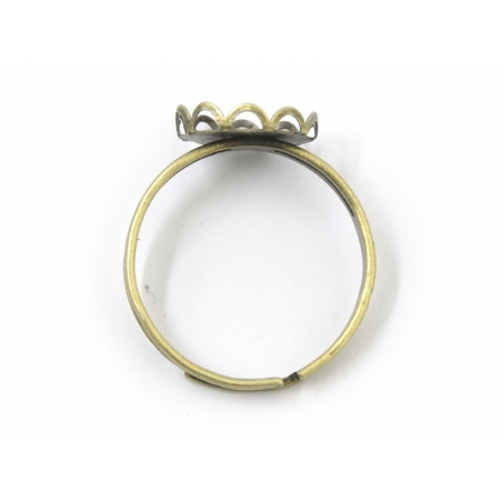 1 ring blank for cabochons, 10 mm - bronze-coloured