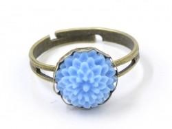 1 Ringfassung für Cabochons, 10 mm - bronzefarben