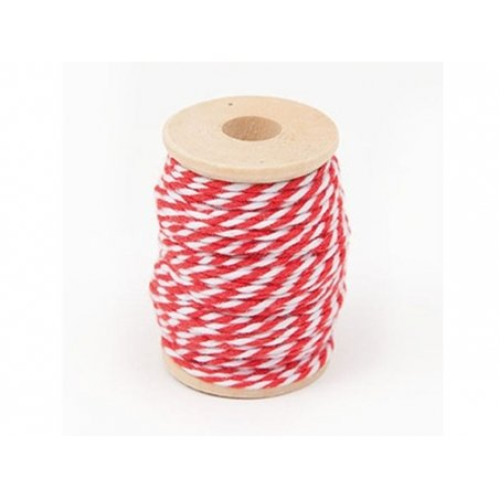 Ficelle baker twine rouge - 15 m